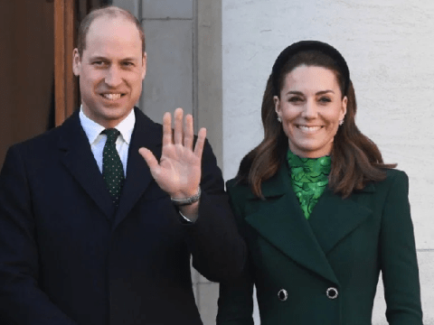 Kate and Irish president's wife Sabina arm-in-arm on Cambridge's first tour of Ireland