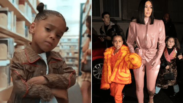 Kim Kardashian, North West, Zaza