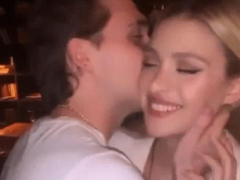 Brooklyn Beckham dances to Britney Spears with girlfriend Nicola Peltz as 21st birthday celebrations continue