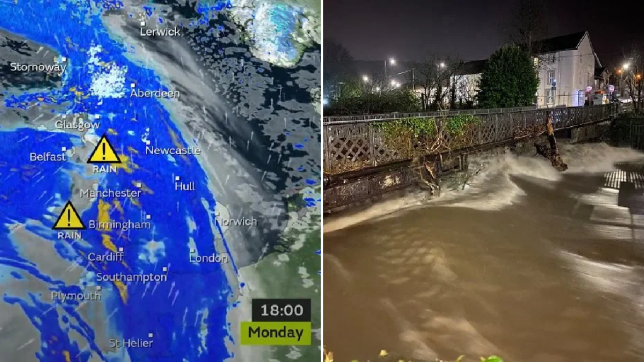 The Met Office has issued an amber warning for heavy rain across parts of Wales