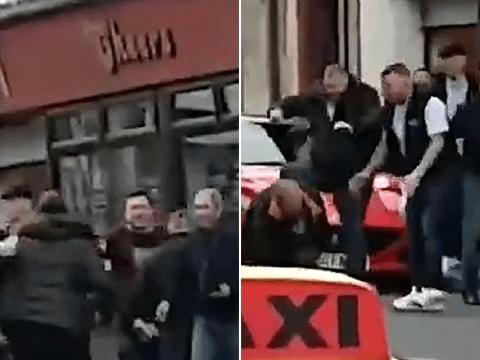 Riot police swoop on pub full of drinkers during coronavirus lockdown