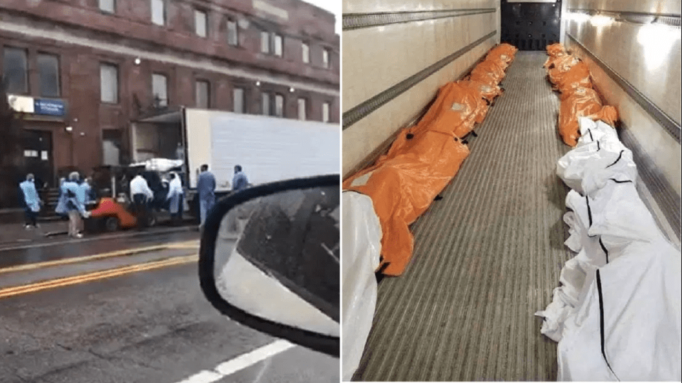 Coronavirus New York: Forklift puts bodies of Covid-19 victims ...