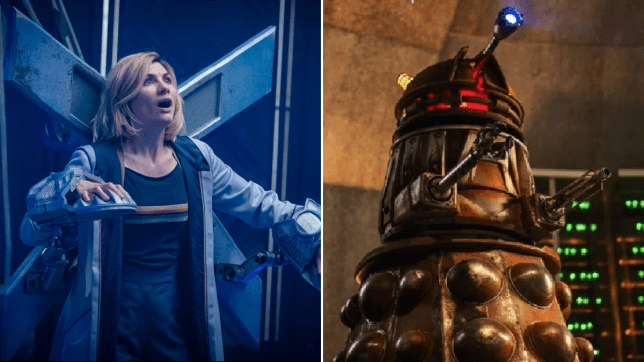 Doctor Who's Jodie Whittaker and Dalek