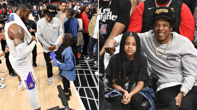Jay Z and Blue Ivy basketball