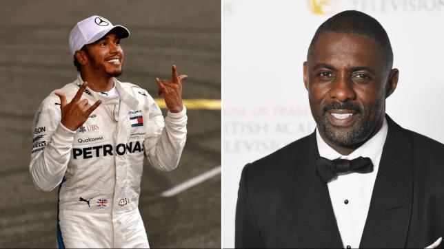 Lewis Hamilton and Idris Elba