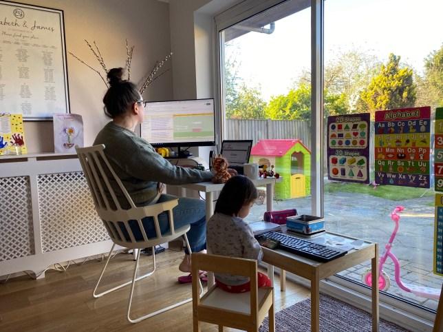 lizzie dummer with daughter elsie - where i work