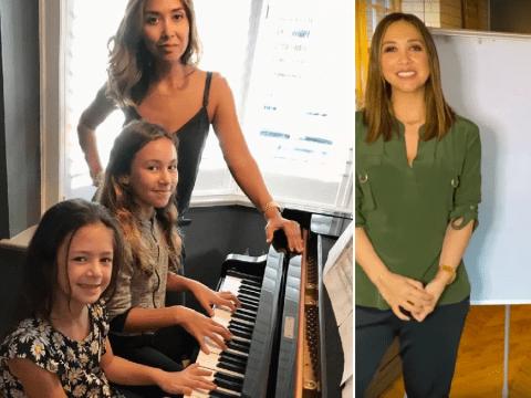 Myleene Klass admits homeschooling daughters is a 'blessing in disguise' amid coronavirus pandemic