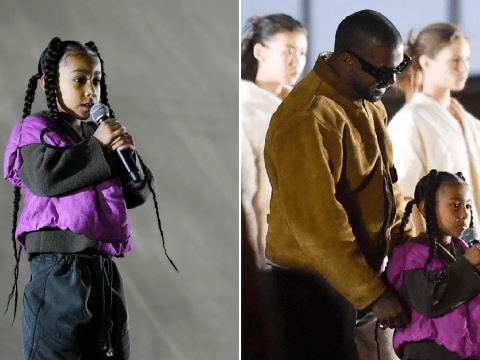 North West follows in dad Kanye West's footsteps as she makes rap debut age six