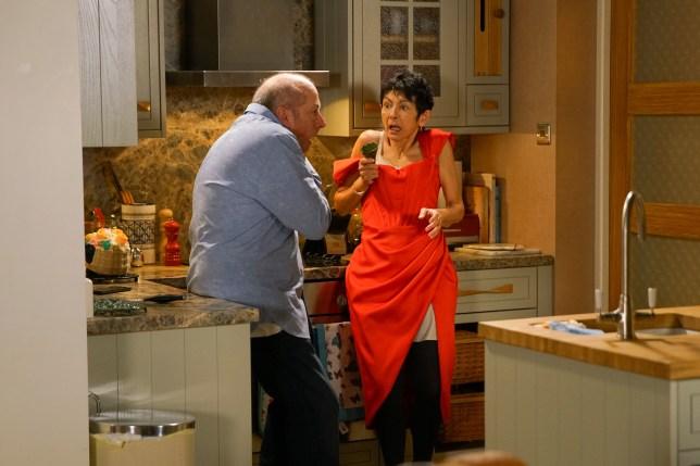 Geoff and Yasmeen in Coronation Street