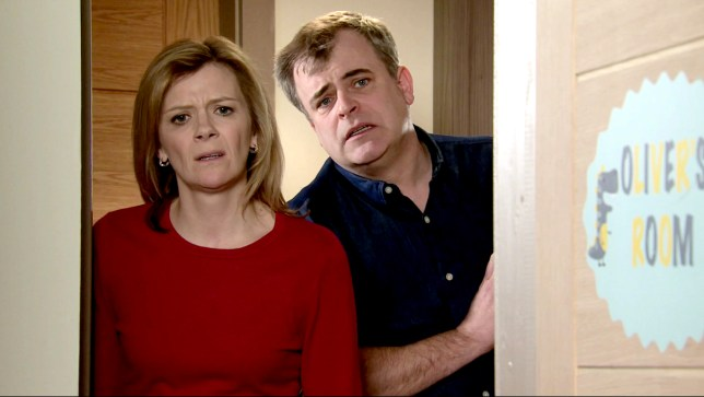 Steve and Leanne in Coronation Street