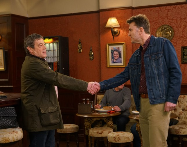 Scott and Johnny in Coronation Street
