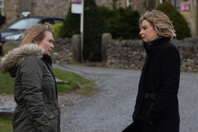 Vanessa and Charity in Emmerdale