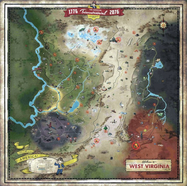 Fallout 76 no camp zones map