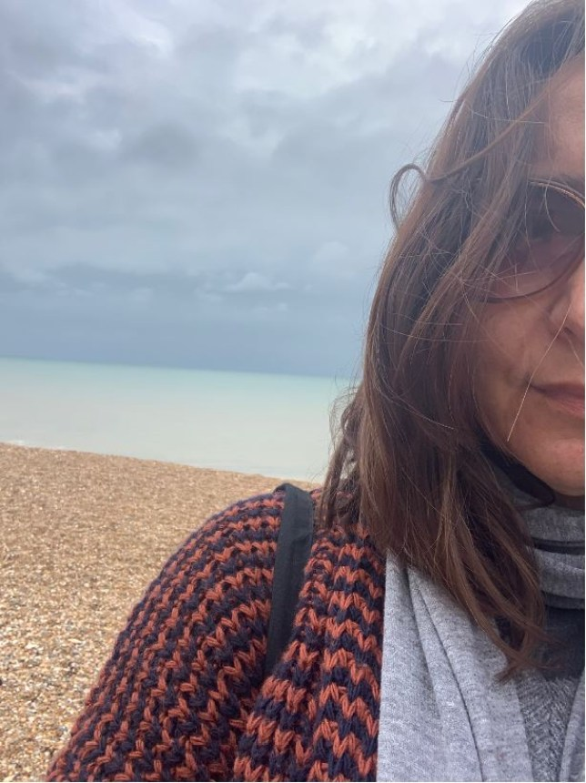 Bibi Lynch on the beach during one of her daily walks (Picture: Bibi Lynch)