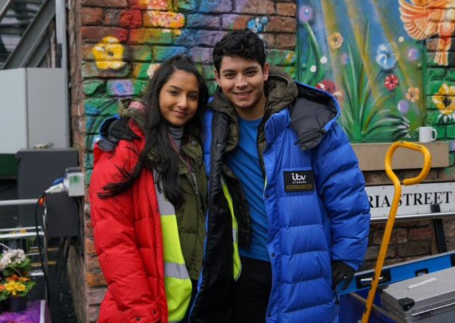 Asha and Aadi in Coronation Street