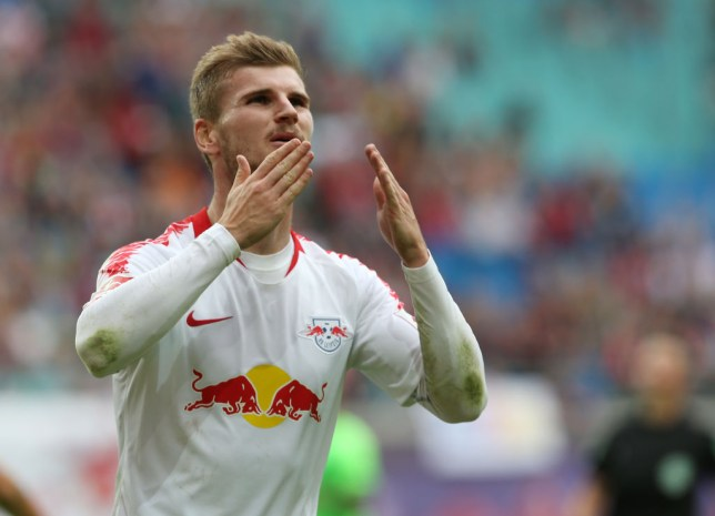 Timo Werner of Leipzig