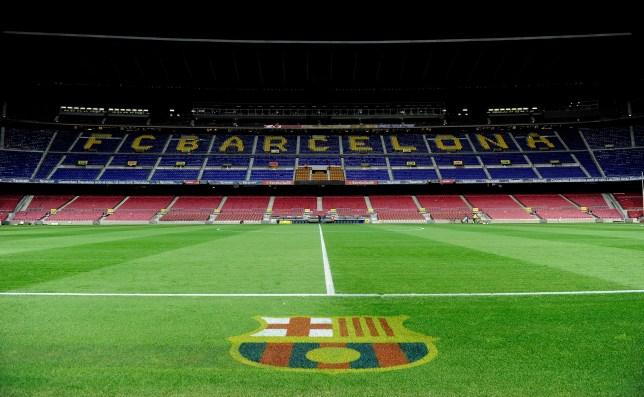 Interior view of Barcelona's stadium the Camp Nou