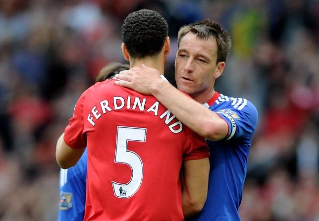 Man Utd defender Rio Ferdinand and Chelsea's John Terry