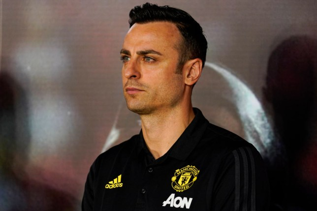 BEIJING, CHINA - JULY 03:  Manchester United Club legends Dimitar Berbatov attends a press conference during Manchester United Creates New Online & Offline Experiences To Engage Fans In China on July 3, 2019 in Beijing, China. (Photo by Fred Lee/Getty Images)