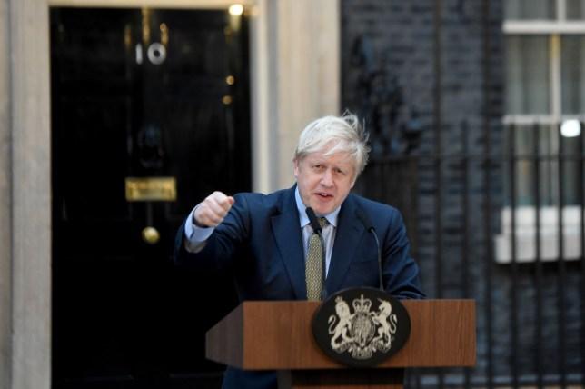 Boris Johnson outside No.10