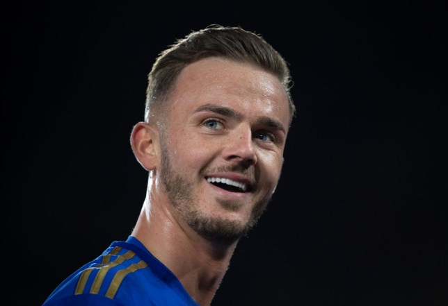 James Maddison in action for Leicester City