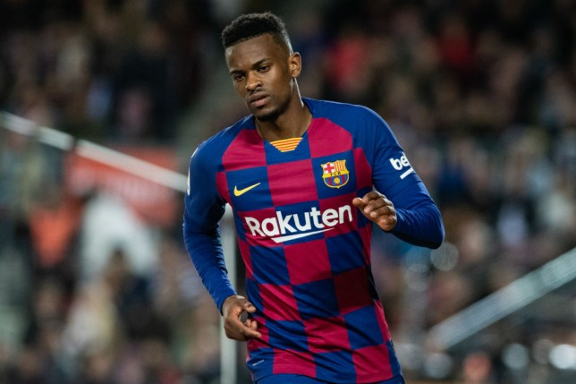 BARCELONA, SPAIN - MARCH 07: Nelson Semedo of FC Barcelona during the Spanish League, La Liga, football match played between FC Barcelona and Real Sociedad at Camp Nou stadium on March 07, 2020 in Barcelona, Spain. (Photo by Marc Gonzalez / AFP7 / Europa Press Sports via Getty Images)