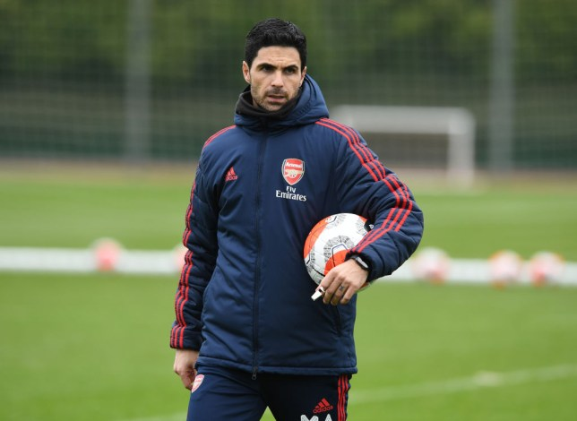 ST ALBANS, ENGLAND - MARCH 10: Arsenal Head Coach Mikel Arteta during a training session at London Colney on March 10, 2020 in St Albans, England. (Photo by Stuart MacFarlane/Arsenal FC via Getty Images)