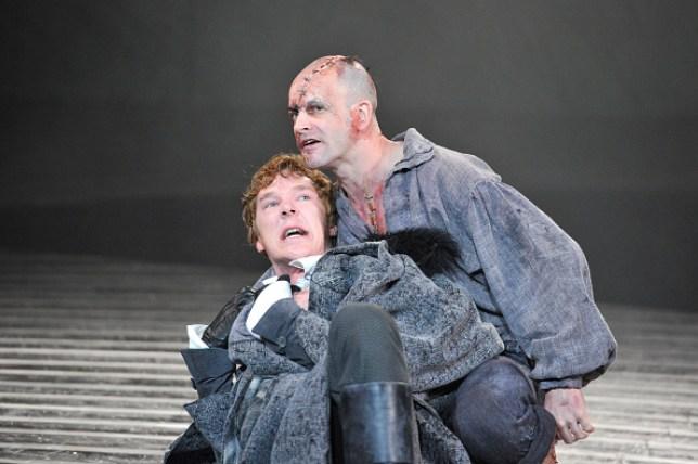 Benedict Cumberbatch and Jonny Lee Miller in National Theatre's Frankenstein
