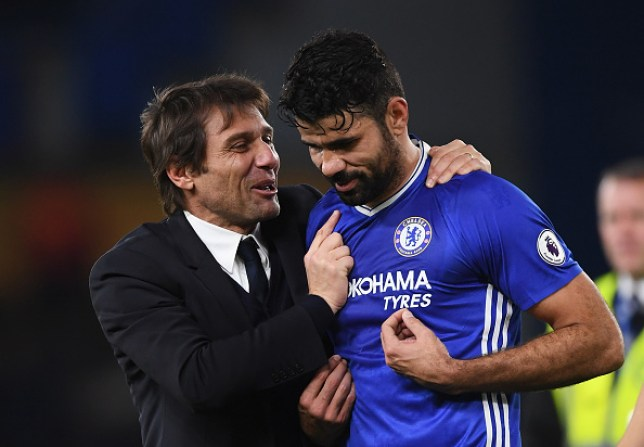 Diego Costa fell out with Antonio Conte while they were both at Chelsea
