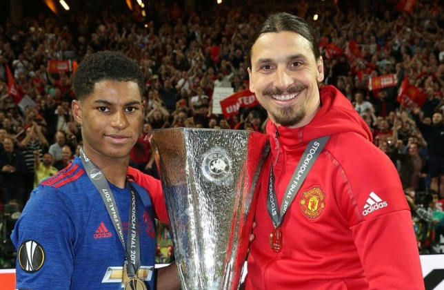 Marcus Rashford and Zlatan Ibrahimovic won the Europa League together at Manchester United