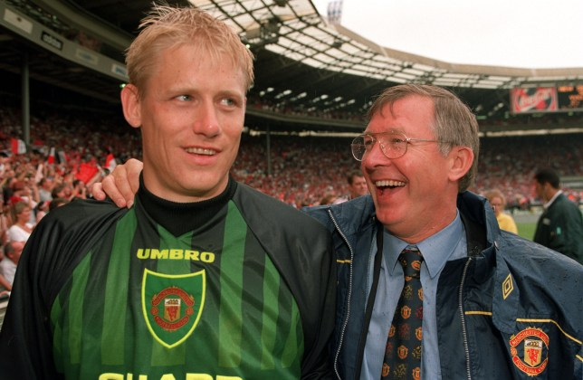 Man Utd legends Sir Alex Ferguson and Peter Schmeichel