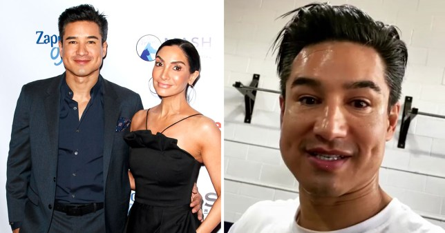 Mario Lopez and his wife Courtney