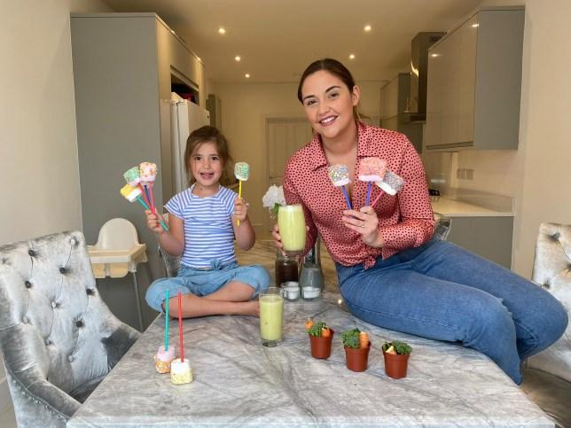 Jacqueline Jossa and daughter Ella