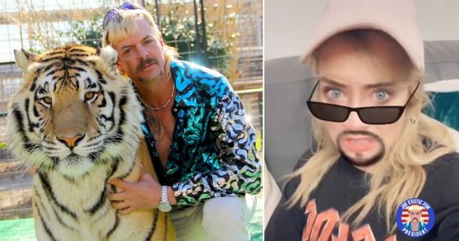 Laura Whitmore and Tiger King's Joe Exotic