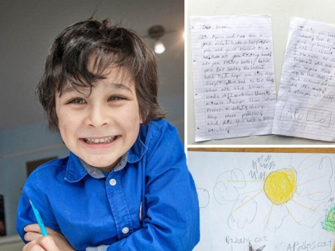 Six-year-old Londoner starts 'humbling' pen-pal friendship with girl in Yemen