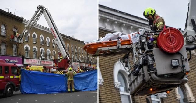 London fire brigade remove patient