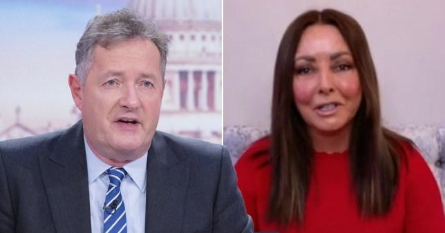 Piers Morgan and Carol Vorderman
