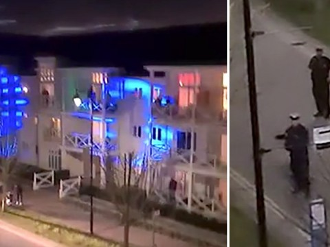 Police shut down balcony party and everyone was okay with it