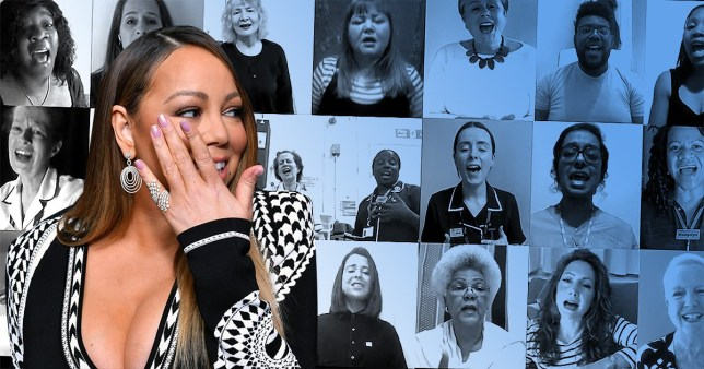Mariah Carey thanks NHS after healthcare choir makes her cry