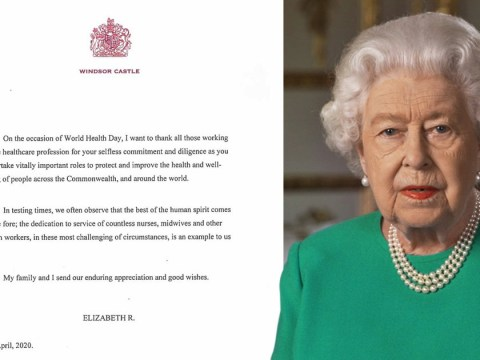 Queen personally thanks NHS staff for their 'selfless commitment'