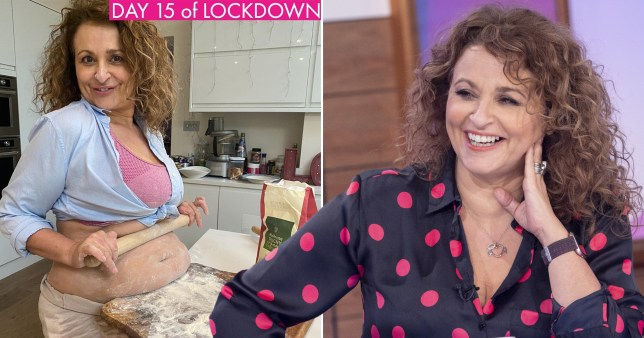 The Loose Women star took a novel approach to baking