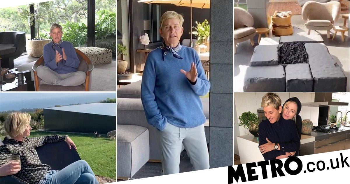 Inside Ellen DeGeneres' $27million home where she is self-isolating