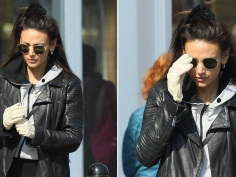 Michelle Keegan gloves up to do her food shopping but makes one big coronavirus error