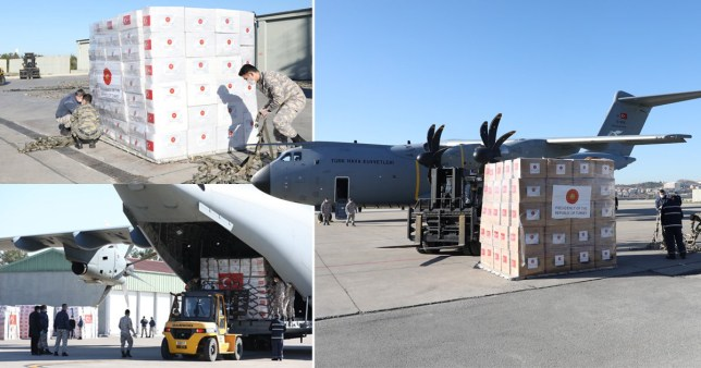 Turkey sends plane full of emergency equipment to UK as death toll nears 9,000