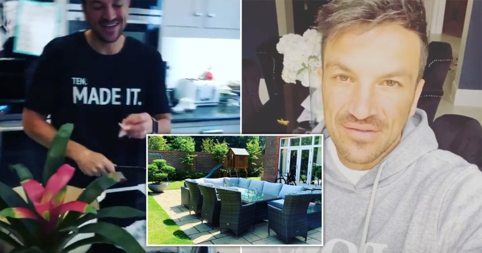 Peter Andre at his Surrey home