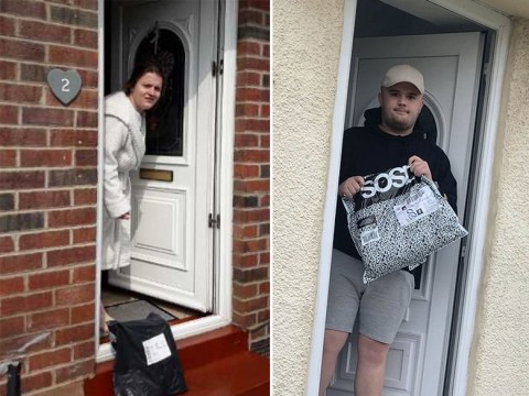 Delivery drivers are taking hilariously awkward photos of people with their parcels