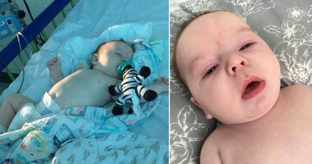 11 weeks old baby boy battling coronavirus