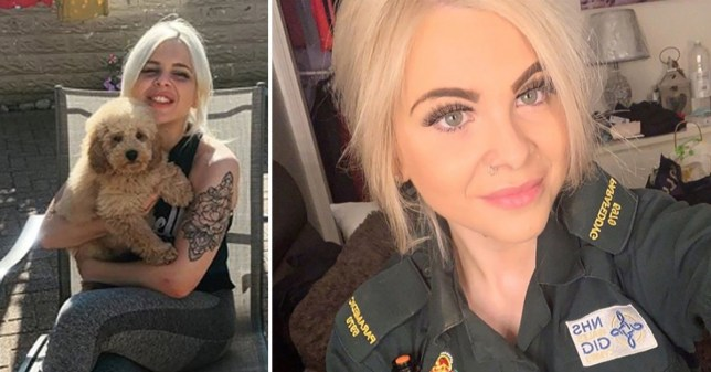 Welsh Ambulance Service paramedic Charlotte Cope, who died at home after working on the NHS frontline