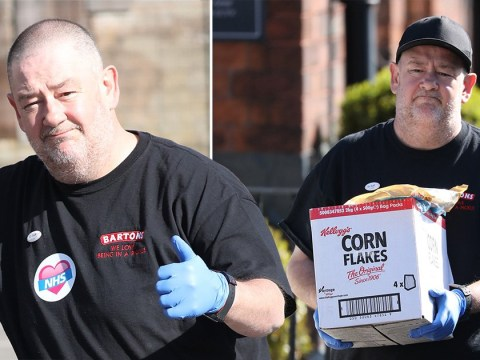 Johnny Vegas delivers food to the vulnerable and NHS staff after giving 1000 tour tickets to medics