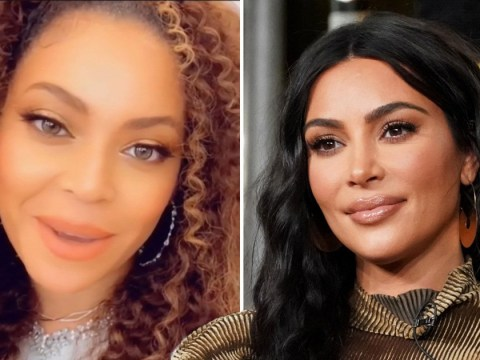 Kim Kardashian says Beyonce sounds 'beautiful' in Disney singalong because what feud?